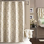 J. Queen New York 72-Inch x 96-Inch Horizons Shower Curtain in Ivory