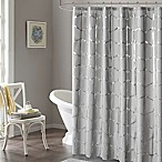 Intelligent Design Raina Metallic Shower Curtain in Grey
