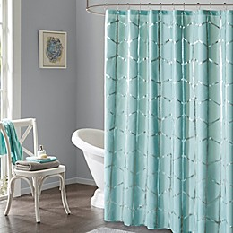 Intelligent Design Raina Metallic Shower Curtain