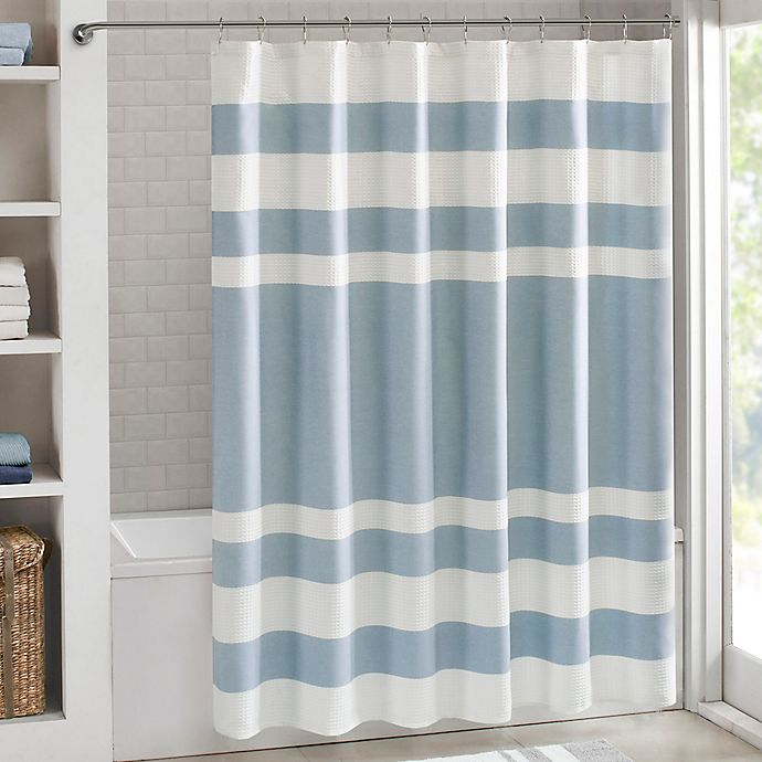 Madison Park Spa Waffle Shower Curtain