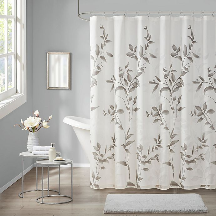 Alternate image 1 for Madison Park Cecily Shower Curtain in Grey