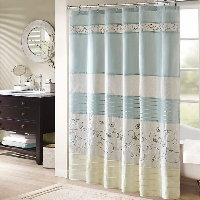 Madison Park Serene Embroidered Shower Curtain Bed Bath Beyond