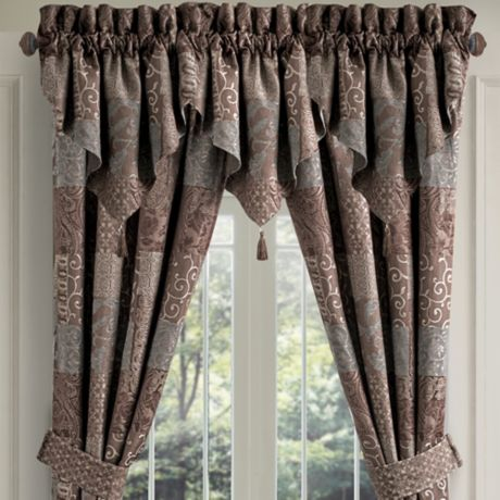 Croscill 174 Galleria Ascot Window Valance In Chocolate Bed