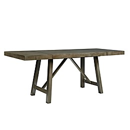 Standard Furniture Omaha Counter Height Extendable Dining Table with 2 Leafs in Grey