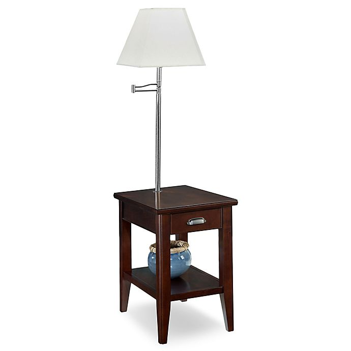 Alternate image 1 for Leick Home Laurent Chairside Lamp Table in Chocolate