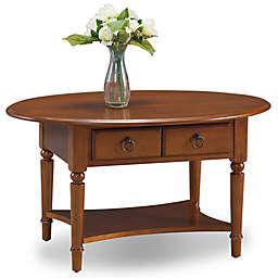 Leick Home Coastal Oval Coffee Table