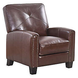 Abbyson Living London Pushback Leather Recliner