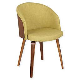 Armen Living Alpine Wood Upholstered Dining Chair