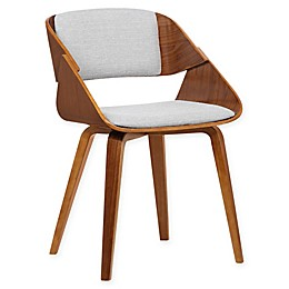 Armen Living Ivy Wood Upholstered Dining Chair