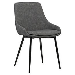 Armen Living Mia Black Powder Coated Steel Dining Chair