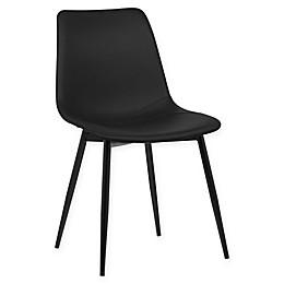 Armen Living Monte Black Powder Coated Steel Dining Chair