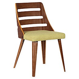 Armen Living Storm Wood Upholstered Dining Chair