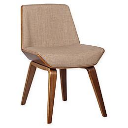 Armen Living Agi Wood Upholstered Dining Chair