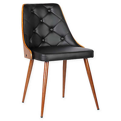 Armen Living Lily Wood Upholstered Dining Chair
