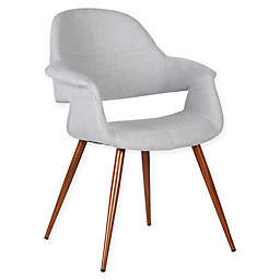 Armen Living Phoebe Wood Upholstered Dining Chair