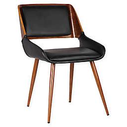 Armen Living Panda Wood Upholstered Dining Chair