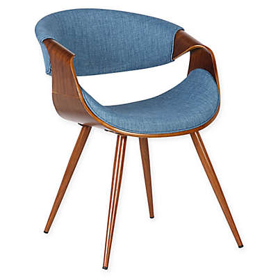 Armen Living Butterfly Wood Upholstered Dining Chair