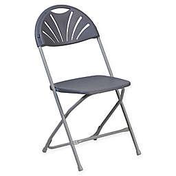 Flash Furniture Fan Back Plastic Folding Chair