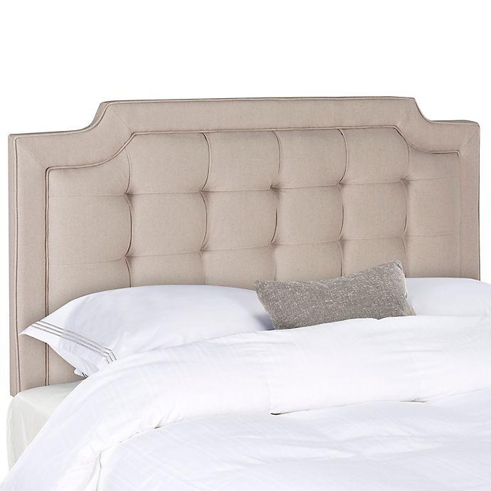 Alternate image 1 for Safavieh Sapphire Tufted Linen King Headboard
