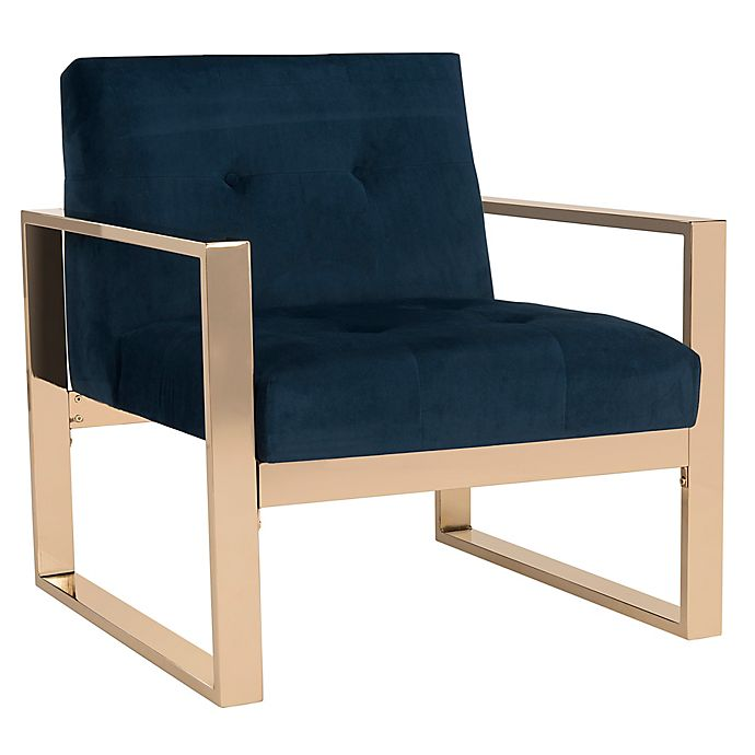 Fine Safavieh Vasco Accent Chair In Navy Bed Bath Beyond Unemploymentrelief Wooden Chair Designs For Living Room Unemploymentrelieforg