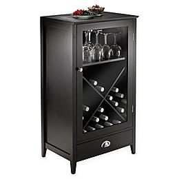 Bordeaux 24-Bottle X-Shelf Wine Cabinet in Espresso