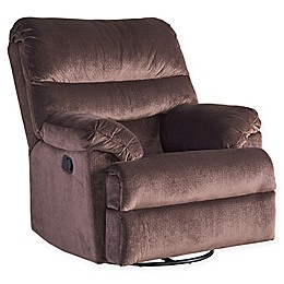 Standard Furniture Rocky Manual Motion Recliner/Glider in Dark Chocolate