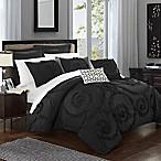 Chic Home Rosalinda 7-Piece King Comforter Set in Black