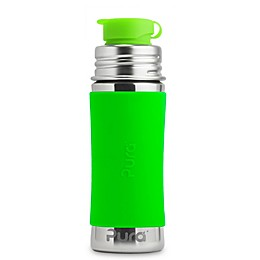 Pura Sport Mini™ 11 oz. Stainless Steel Bottle with Silicone Sport Top & Sleeve