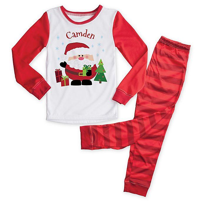 Alternate image 1 for Santa 2-Piece Pajama Set in Red