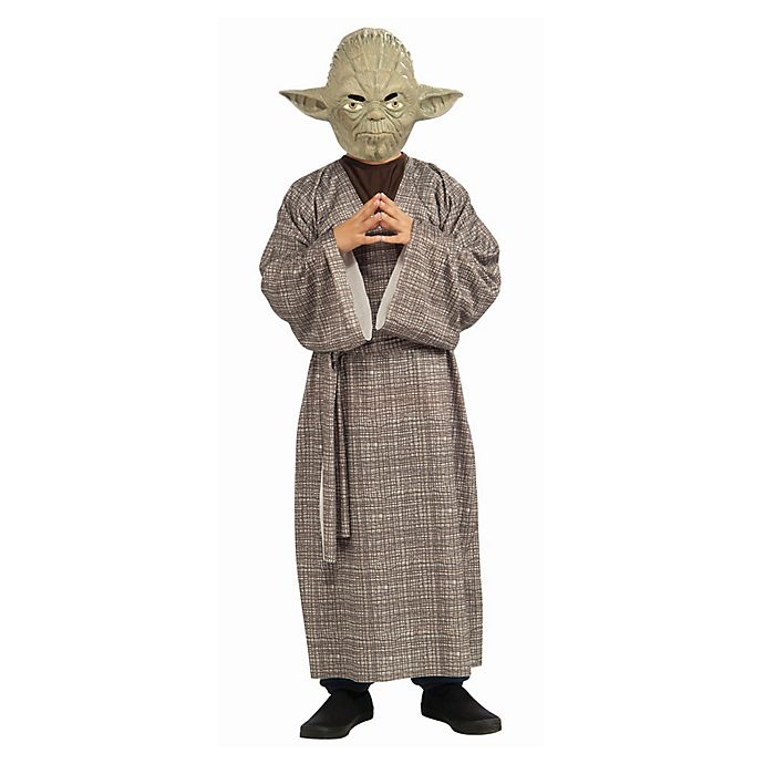 Alternate image 1 for Star Wars Yoda Deluxe Large Child's Halloween Costume