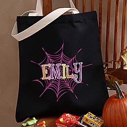Spider Webs Halloween Treat Tote Bag