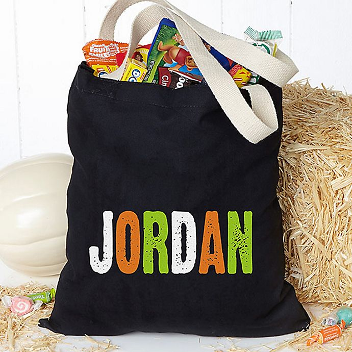 Alternate image 1 for All Mine! Personalized Halloween Treat Tote Bag