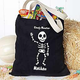 Glow-in-the-Dark Skeleton Halloween Treat Tote Bag
