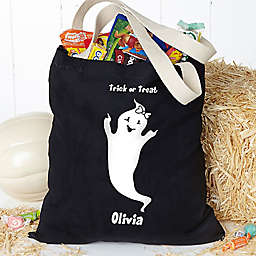 Glow-in-the-Dark Ghost Halloween Treat Tote Bag