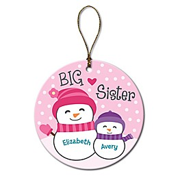 Big Sister and Little Sister Christmas Ornament
