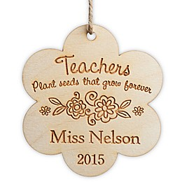 Teachers Plant Seeds Wood Christmas Ornament