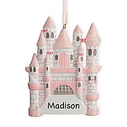 Pink Castle Christmas Ornament
