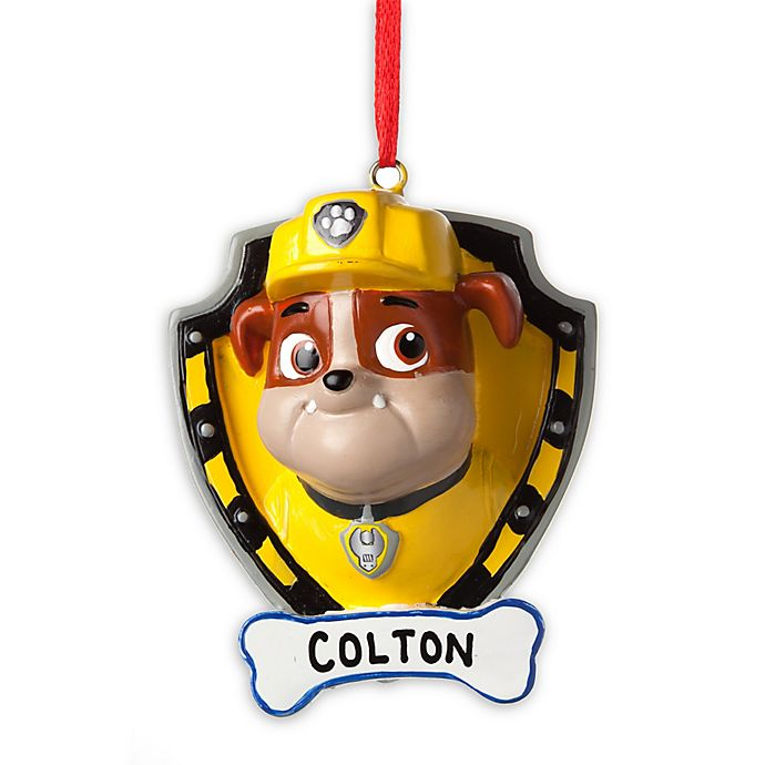 Alternate image 1 for PAW Patrol Best Pup Pals Rubble Christmas Ornament