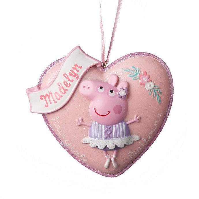 alternate image 1 for peppa pig ballerina christmas ornament