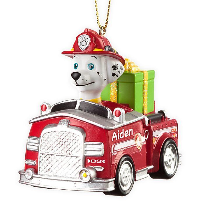 Paw Patrol Christmas Ornament.Paw Patrol Best Pup Pals Marshall S Truck Christmas Ornament
