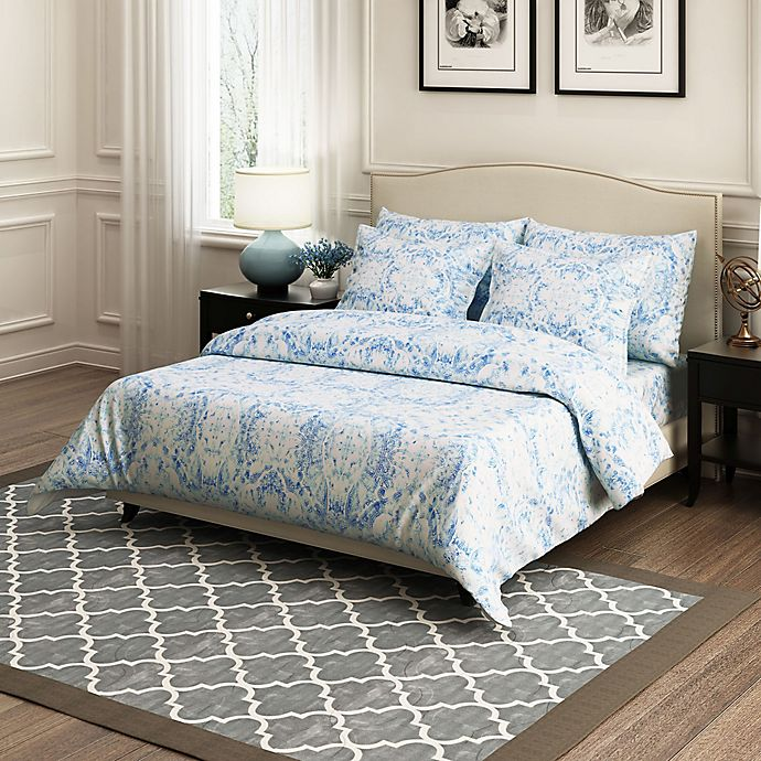 Alternate image 1 for Brielle Ibiza Full/Queen Duvet Cover Set in Blue