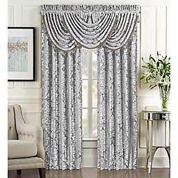 J. Queen New York™ Bel Air Rod Pocket Window Curtain Panel Pair in Silver