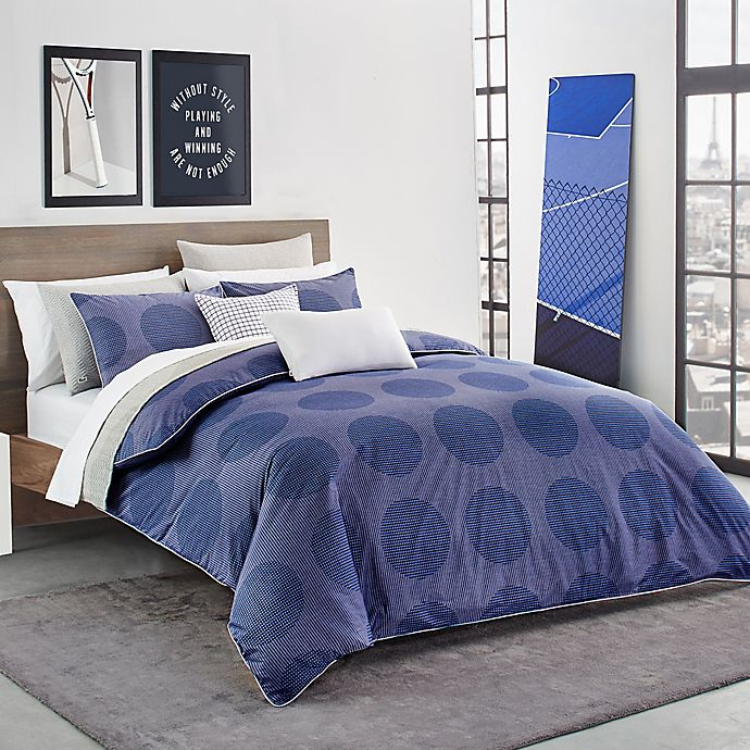 Alternate image 1 for Lacoste Risoul Reversible Full/Queen Comforter Set in Blue