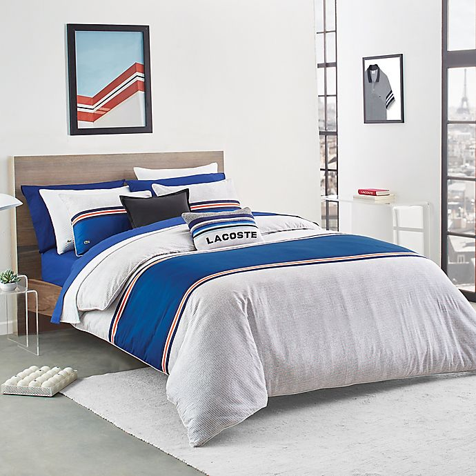 Alternate image 1 for Lacoste Praloup 2-Piece Reversible Twin/Twin XL Comforter Set in Blue