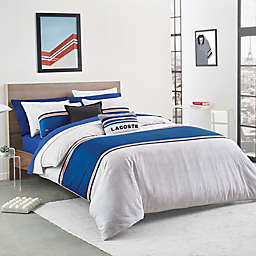 Lacoste Praloup 2-Piece Reversible Twin/Twin XL Comforter Set in Blue