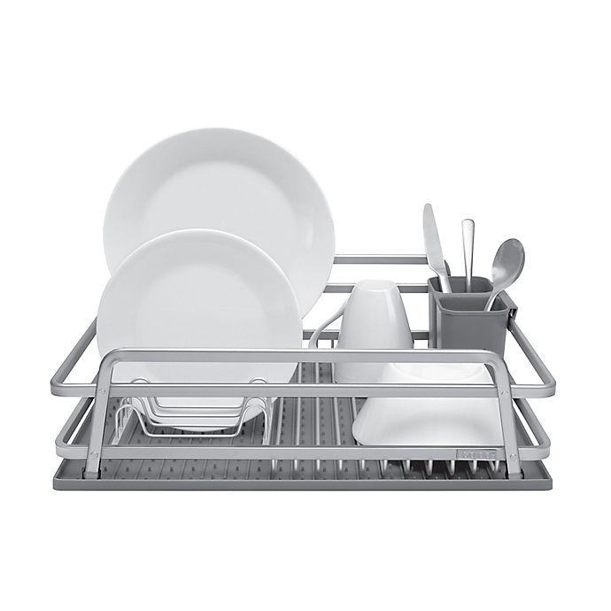 Bed Bath Beyond Dish Rack.Jascor Housewares Tada Aluminum Dish Rack With Drysmart Mat