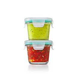 OXO Good Grips® Smart Seal 4-Piece Square Glass Food Storage Set