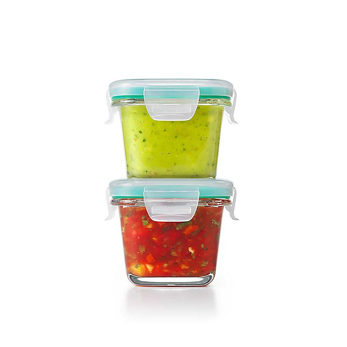 Alternate image 1 for OXO Good Grips® Smart Seal 4-Piece Square Glass Food Storage Set