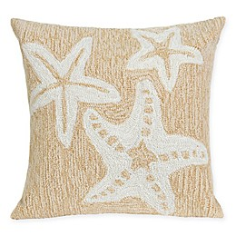 Liora Manne Starfish Indoor/Outdoor Square Throw Pillow