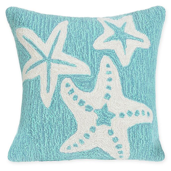Alternate image 1 for Liora Manne Starfish Indoor/Outdoor Square Throw Pillow